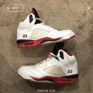 Nike Air Jordan 5 Retro Fire Red 2006 Black Tongue